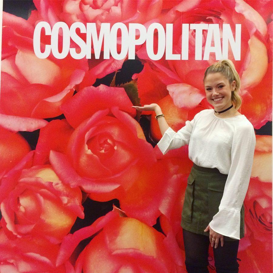 Madeline+Galassi+spent+the+semester+interning+at+Cosmopolitan+in+New+York+City.+