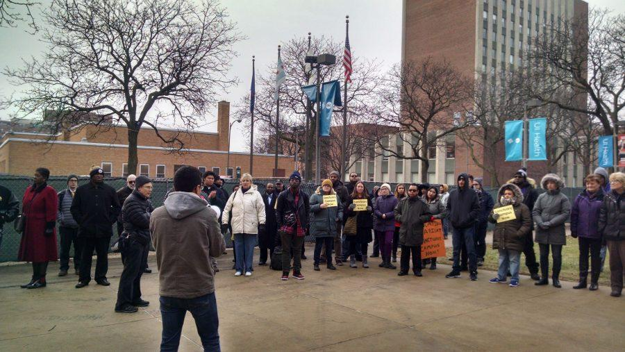 A protest took place during a Board of Trustees meeting in Chicago on Thursday, Jan. 19th.