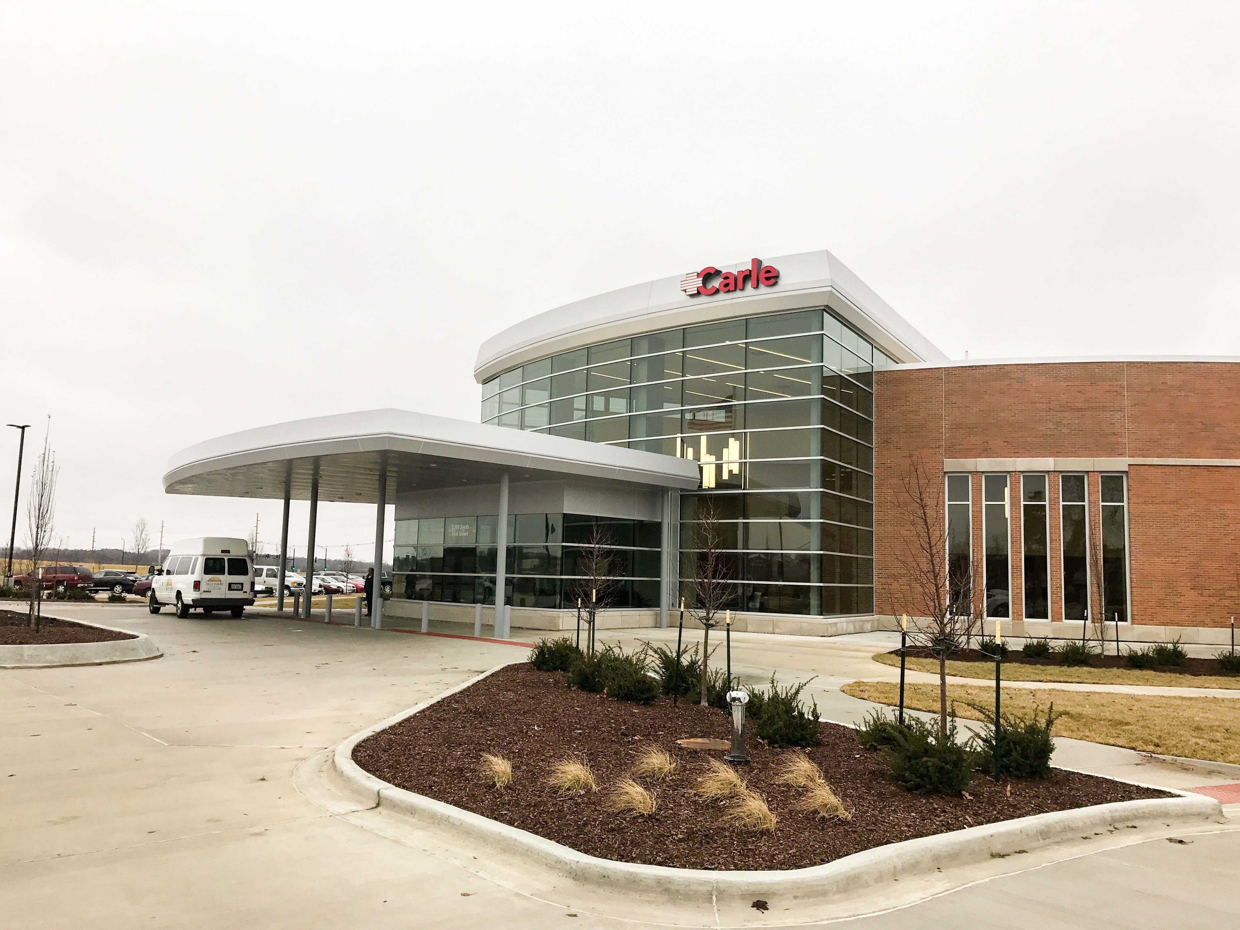 Carle opened an Orthopedics and Sports Medicine Building in Research Park on Monday. The building is located at 2300 S. First St. in Champaign, at the corner of First Street and Windsor Road and will serve student athletes and community members.