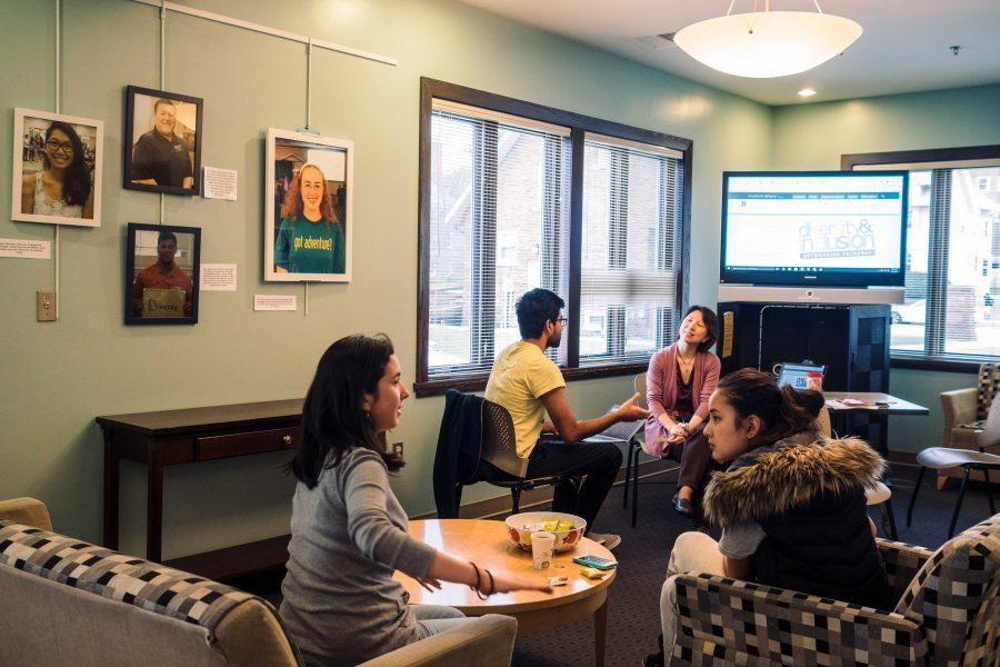 Students chat with each other in Asian American Cultural Center, one of many cultural and resource centers offered by the Office of Inclusion and Intercultural Relations.