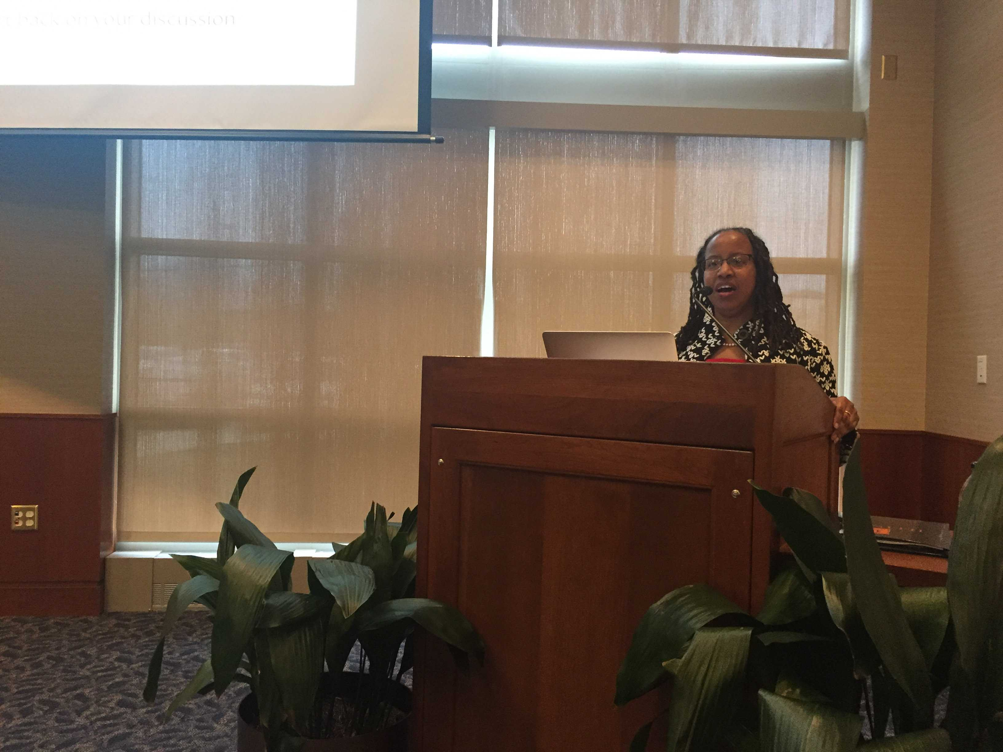 Associate Chancellor for Diversity Assata Zerai kicked off the Chancellor and Provost's committee on LGBTQ Concern luncheon at the Alice Campbell Alumni Center Thursday.