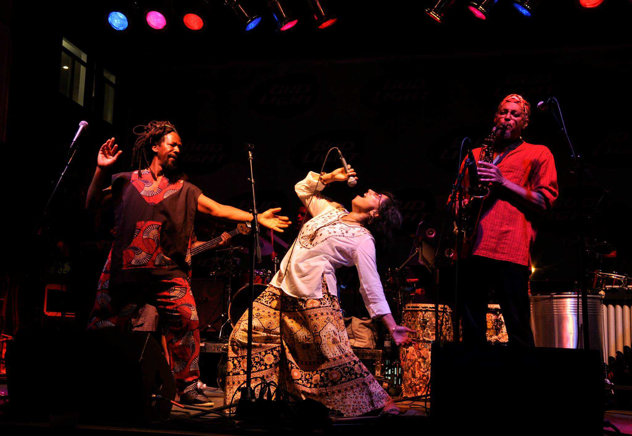 Three members of Funkadesi perform at a past Krannert event. Funkadesi will perform at 5 p.m. at Foellinger Great Hall on Tuesday as part of the University's Sesquicentennial celebration. The event is free but the University is asking guests to RSVP online ahead of time. The group offers a diverse sound, merging Indian music such as bhangra, Bollywood and Indian folk with a reggae, funk and Afro-Caribbean groove.