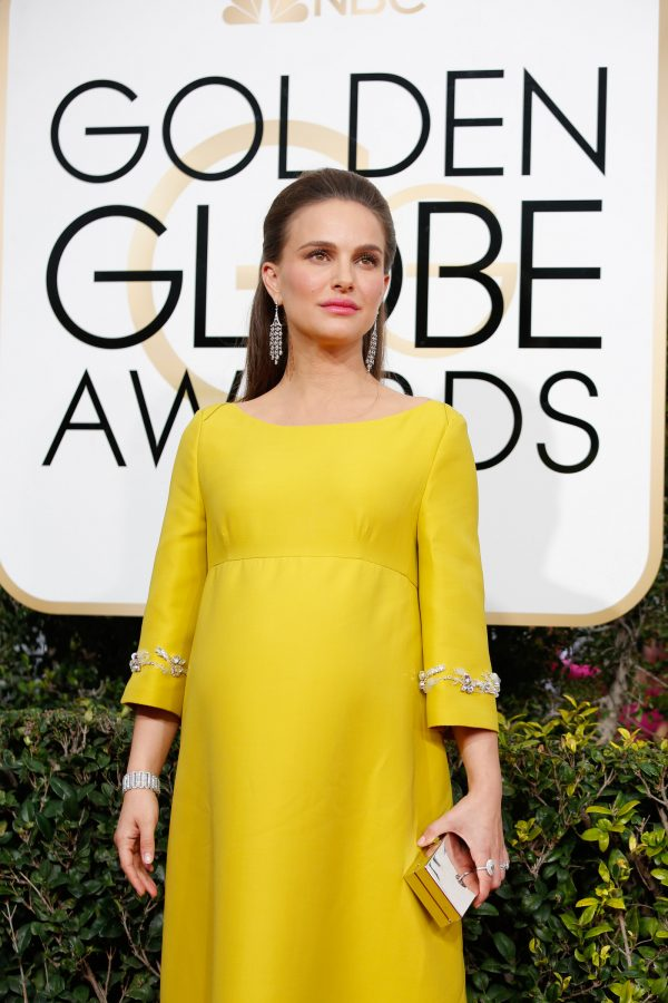 Natalie Portman arrives at the 74th Annual Golden Globe Awards show at the Beverly Hilton Hotel in Beverly Hills, Calif., on Sunday, Jan. 8, 2017. Natalie Portman plays Jacqueline Kennedy in the movie