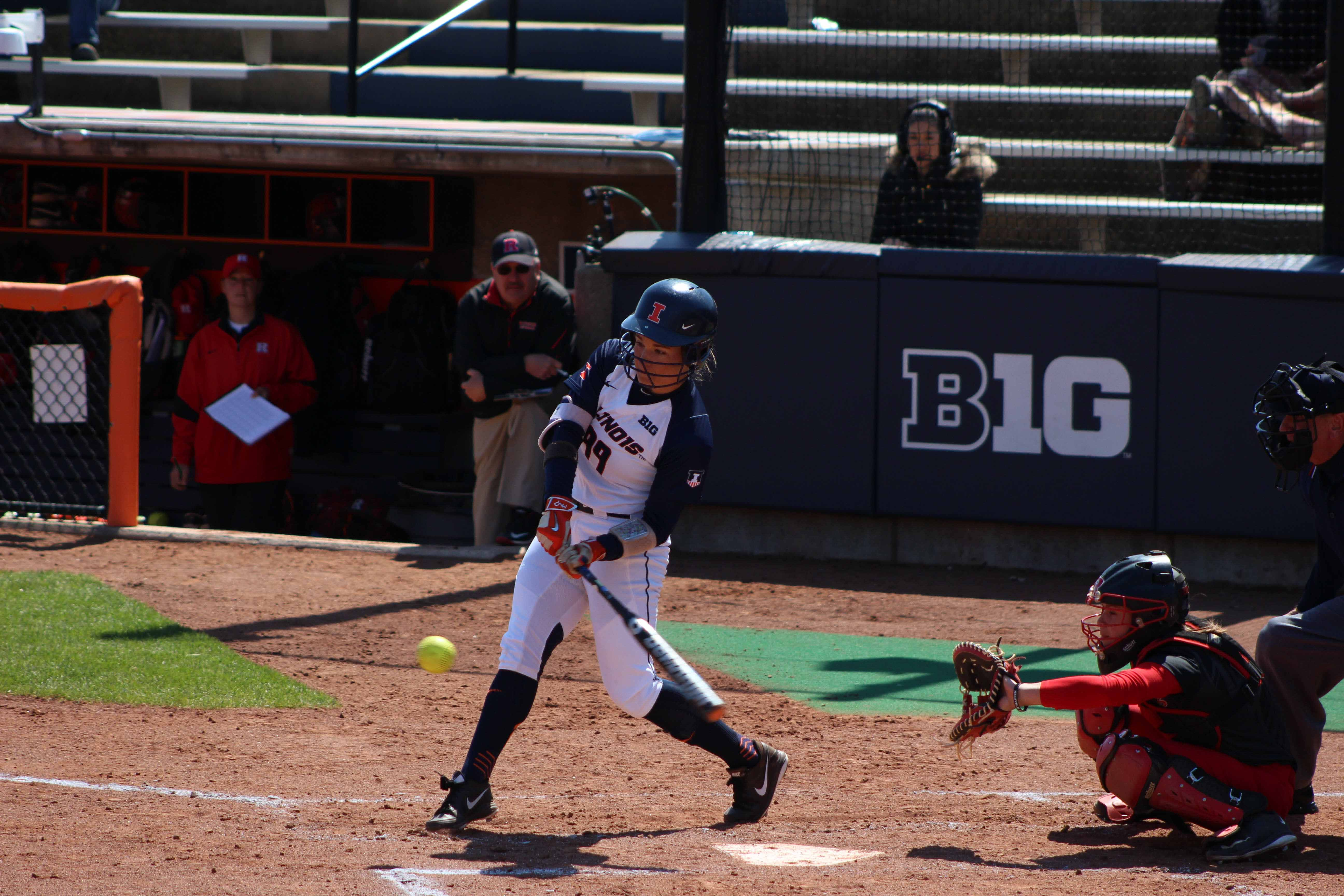 Annie Fleming has been one of the most reliable for the Illini batting .433. Fleming and Nicole Evans have combined for four of the team's seven home runs.