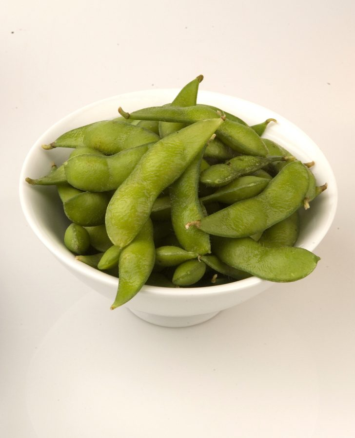 Snacking on foods with soy protein, such as edamame, or fresh soybeans, can help lower blood cholesterol.