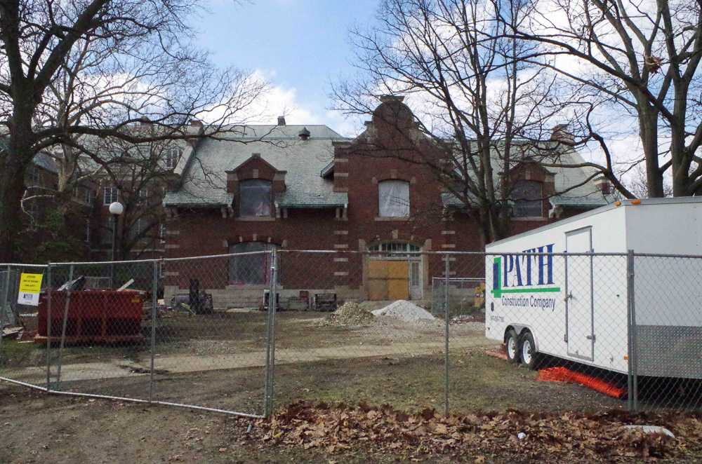 The survey building, located on Gregory St., remains under construction as of Wednesday Feb. 22nd.