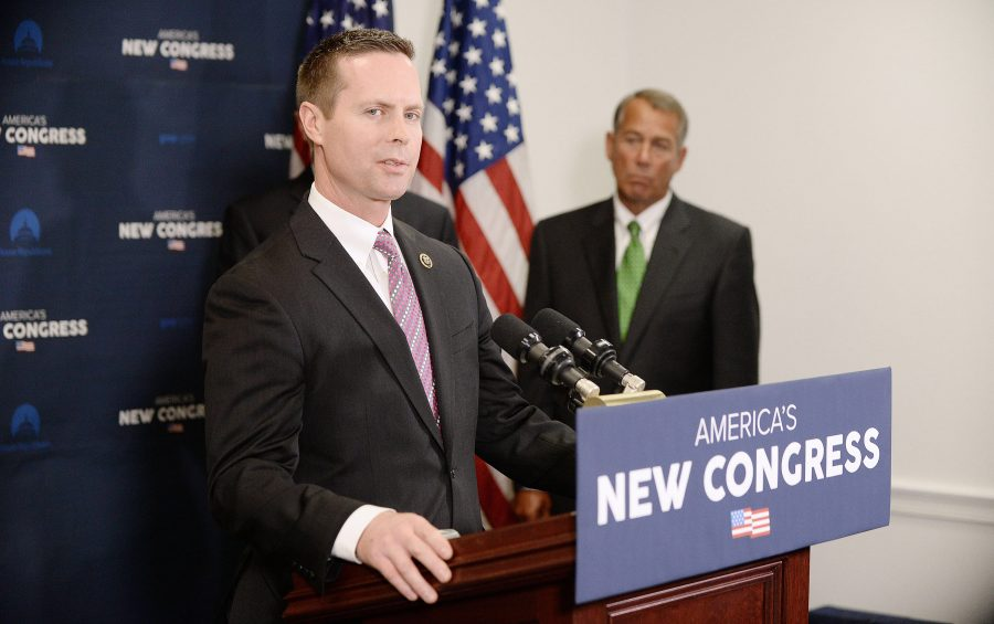 U.S. Rep. Rodney Davis (R-Ill.) answers questions during a press conference at the U.S. Capitol Jan. 7, 2015 in Washington, D.C.