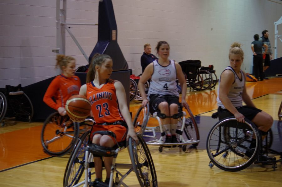 Illini%27s+Erica+Wilson+takes+the+ball+around+to+the+basket+against+the+Canadian+National+Academy+in+the+ARC+on+Friday%2C+Jan.+27th.