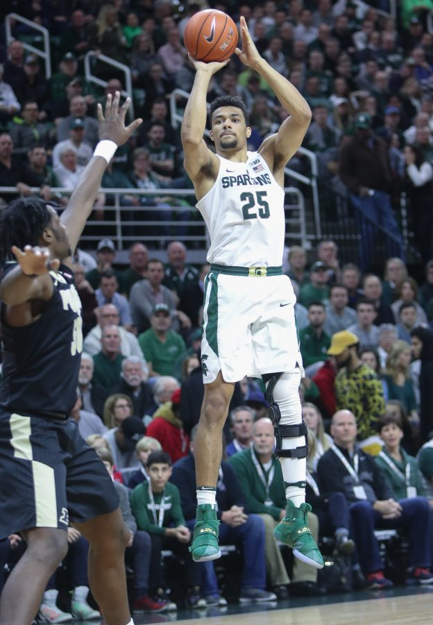 Michigan+State%26apos%3Bs+Kenny+Goings+%2825%29+scores+against+Purdue%26apos%3Bs+Caleb+Swanigan+during+the+first+half+on+Tuesday%2C+Jan.+24%2C+2017%2C+at+the+Breslin+Center+in+East+Lansing%2C+Mich.+Purdue+won%2C+84-73.+%28Kirthmon+F.+Dozier%2FDetroit+Free+Press%2FTNS%29