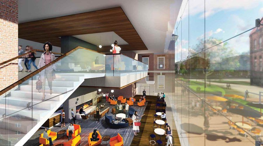 The+two-story+coffee+house+could+draw+visitors+into+the+Illini+Union.