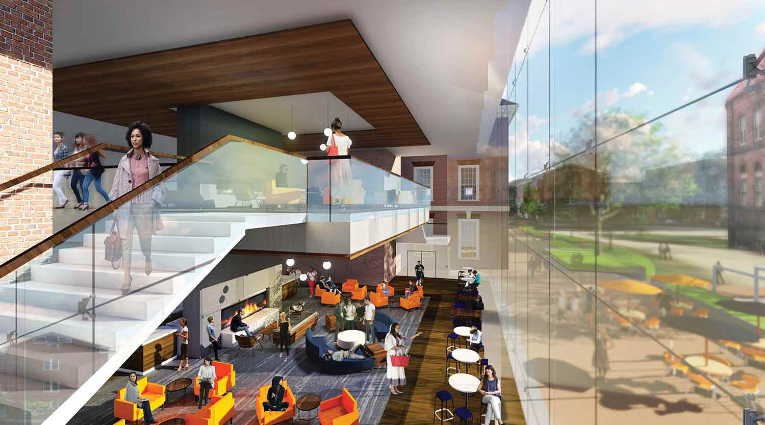 The two-story coffee house could draw visitors into the Illini Union.