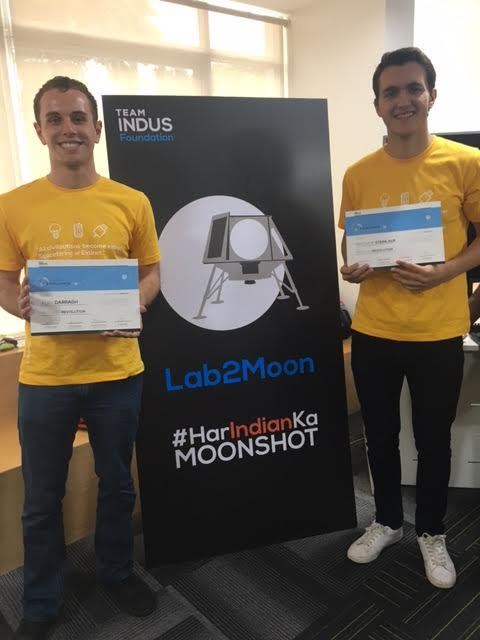 University+freshman+Engineering+students+Alex+Darragh+and+Matt+Steinlauf+were+one+of+eight+teams+that+travelled+to+Bangalore%2C+India%2C+to+compete+in+the+Lab2Moon+Challenge.+They+are+hoping+to+create+a+sustainable+lunar+greenhouse+on+the+moon.++