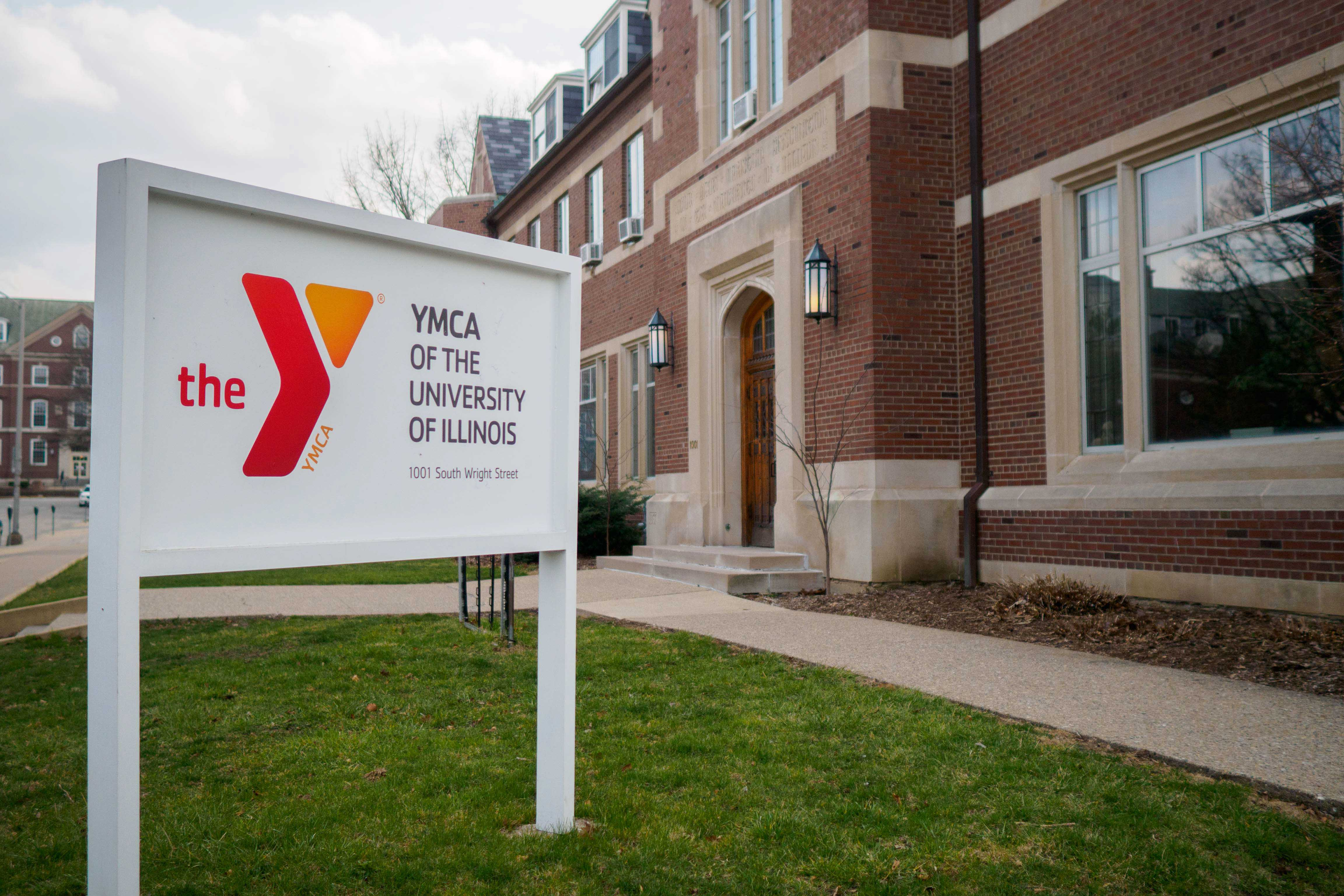Outside of the YMCA of the University of Illinois. Three Spinners Inc., located inside of the YMCA, opened a community resource center in an effort to provide a more inclusive, welcoming environment.