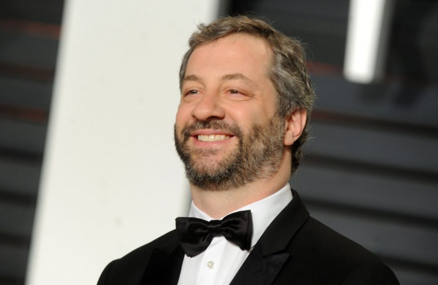 Judd Apatow attends the Vanity Fair Oscar Party at Wallis Annenberg Center for the Performing Arts on February 22, 2015.