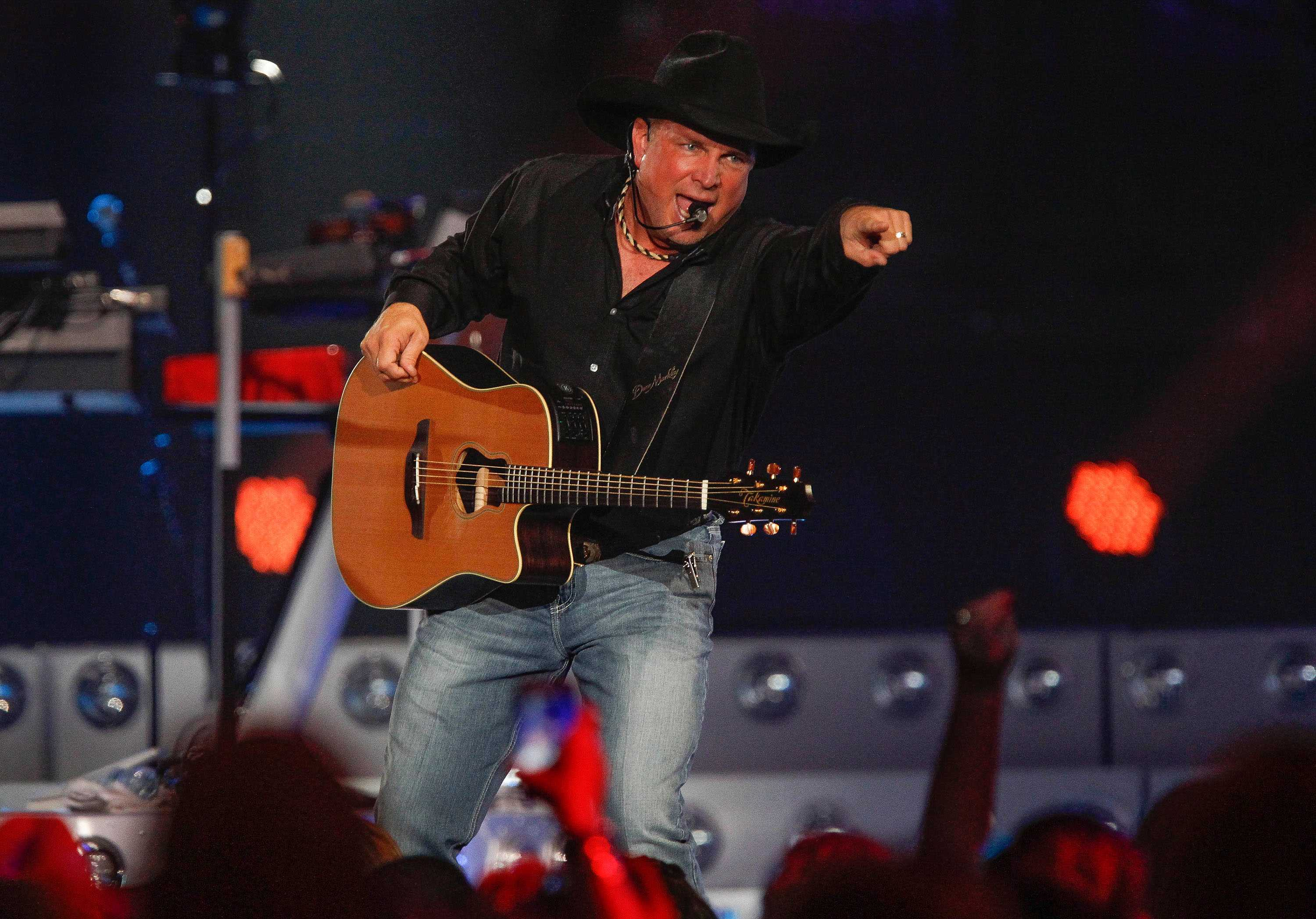 Country music superstar Garth Brooks performs at the Valley View Casino Center on Nov. 5, 2015 in San Diego, Calif. Tickets for Brook's Champaign show were in high demand, causing the ticket server to crash.