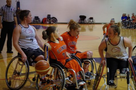 The Illinois women's wheelchair basketball team finished the season with a 1-11 intercollegiate record, but team members plan to try their best in the playoffs.