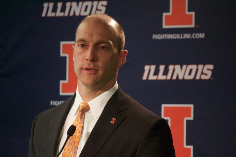 Director of Athletics Josh Whitman hired Brad Underwood as the next Illinois men's basketball coach Saturday.