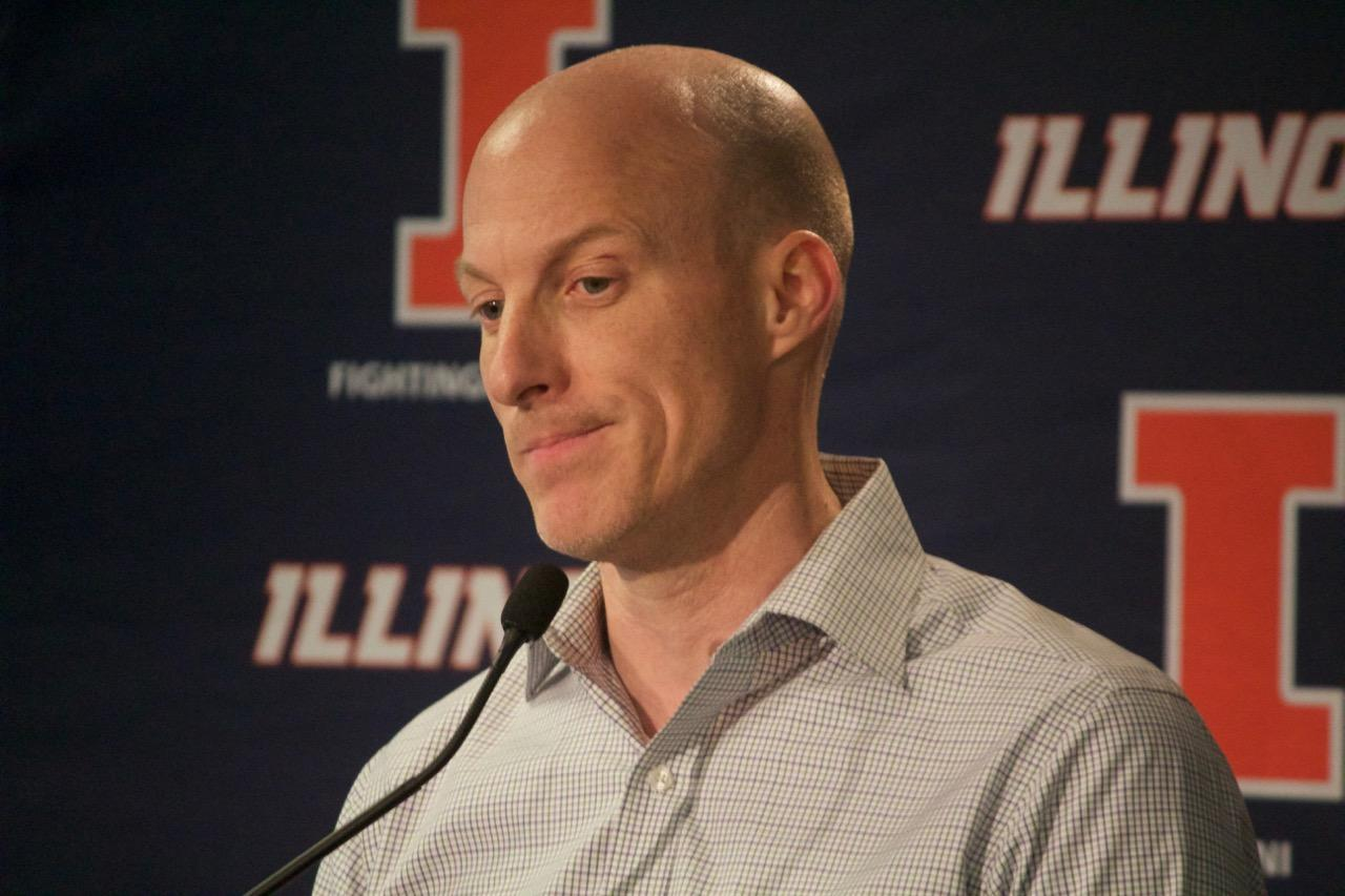 Former Men's Basketball coach John Groce at today's press conference.
