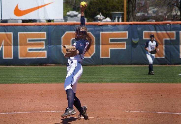 Illinois%27+Breanna+Wonderly+%2820%29+pitches+the+ball+during+the+softball+game+v.+Purdue+at+Eichelberger+Field+on+Sunday%2C+Apr.+26%2C+2015.