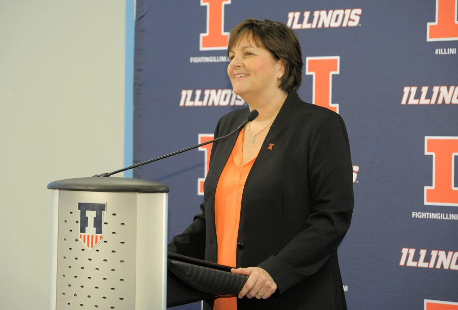 Nancy+Fahey+is+the+new+head+coach+for+Illini+women%27s+basketball+after+coaching+for+31+years+at+Washington+University+in+St.+Louis.