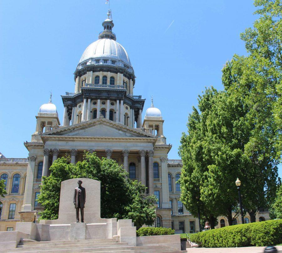 Illinois+State+Capitol+in+Springfield+on+May+15%2C+2016.