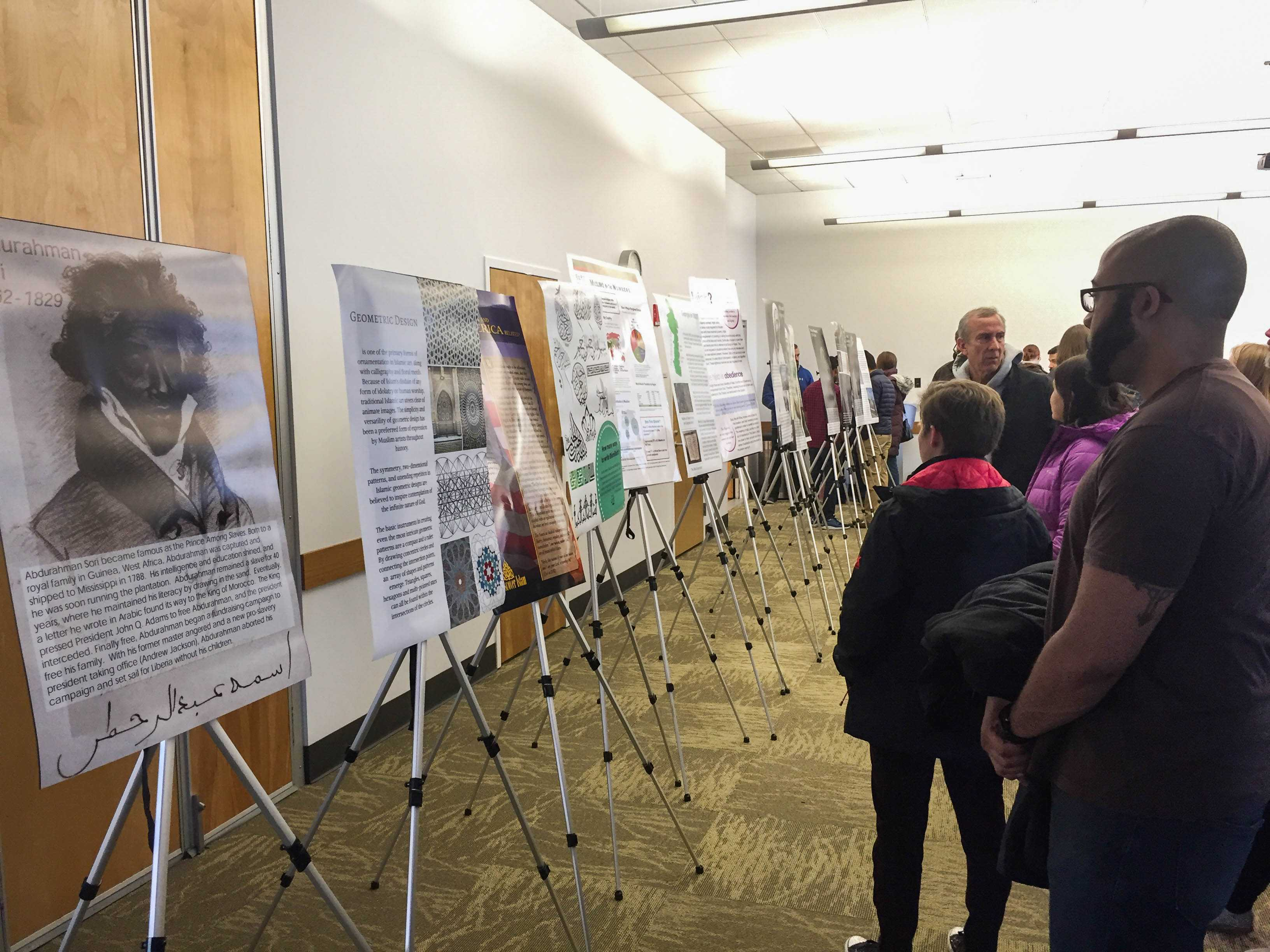 Community members and their families gathered at KYMN and enjoyed food, activities, and a poster exhibit on the history of Muslims in Early America.