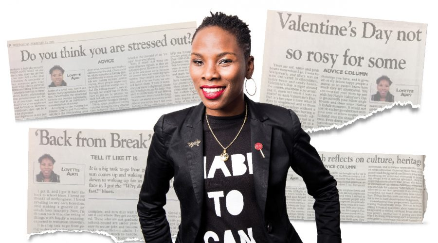 Photo illustration of Luvvie Ajayi.