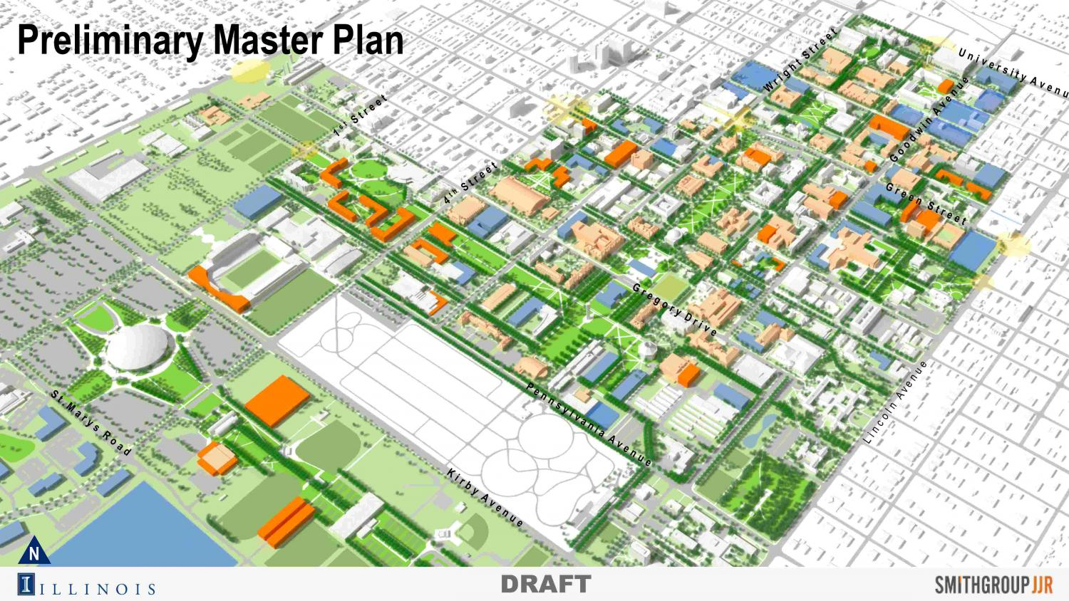 The University is currently working on plans to develop and renovate campus infrastructure and land in the coming decade. Along with renovations of buildings around the Main Quad, the plan proposes an Illini Union South, located on the South Quad.