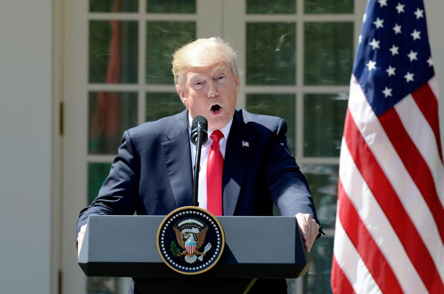 U.S.+President+Donald+Trump+speaks+during+a+joint+press+conference+with+King+Abdullah+II+of+Jordan+on+Wednesday%2C+April+5%2C+2017+in+the+Rose+Garden+of+the+White+House+in+Washington%2C+D.C.