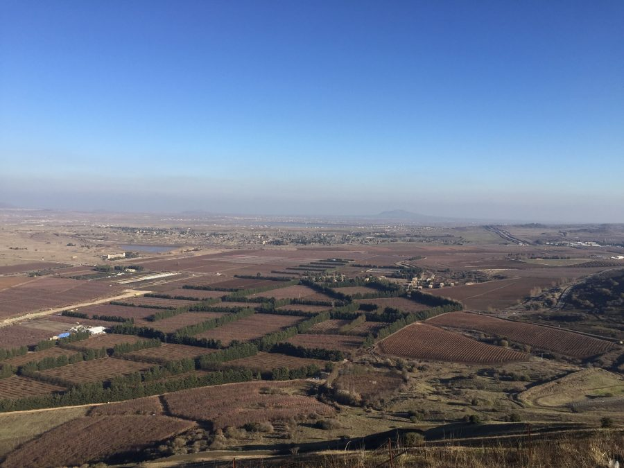 The view of the Syrian border from Mount Hermon in Israel on Dec. 20th.