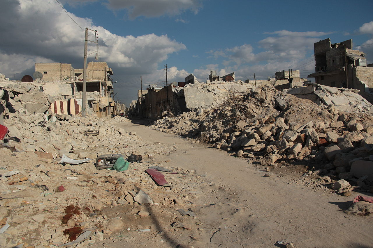 Destroyed area in Aleppo in 2013. Columnist Tyler Panlilio believes that growing up in a war zone has a negative impact on children who live there.