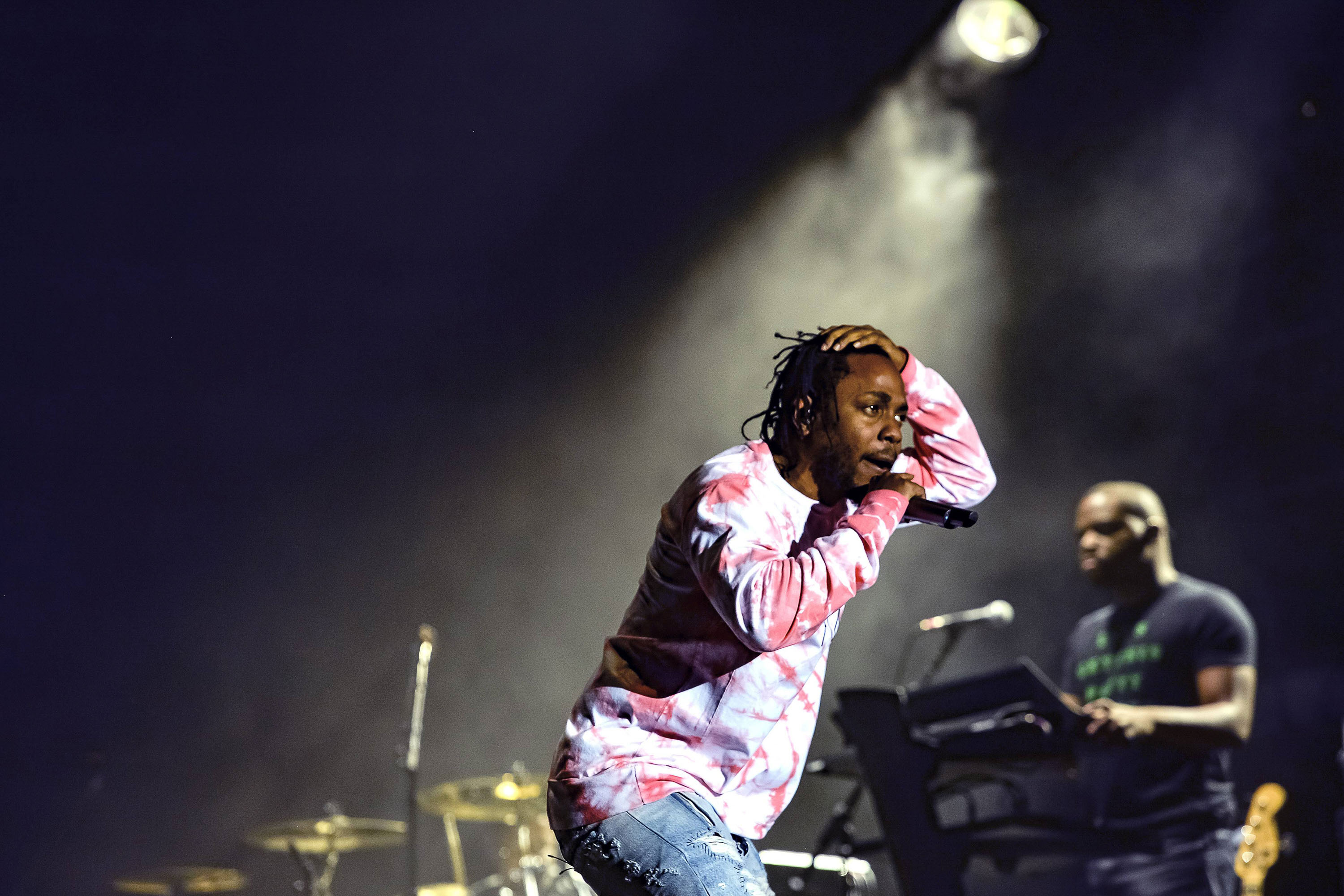 Kendrick Lamar performs at the Austin City Limits Music Festival on Oct. 8 in Austin, Texas. Columnist Saketh Vasamsetti thinks Lamar's music appeals most to college students.