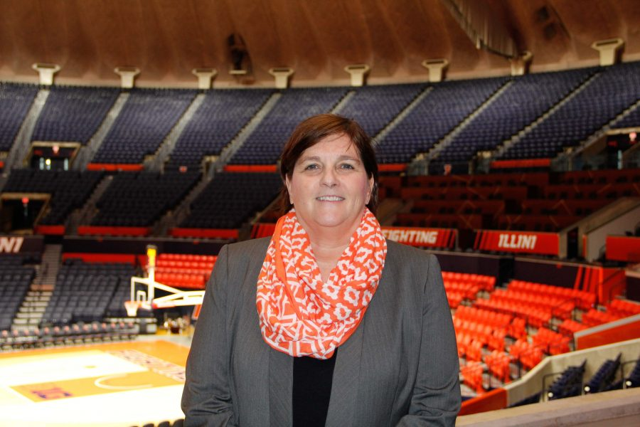 Illinois+Women%E2%80%99s+head+basketball+coach+Nancy+Fahey+retained+two+assistants+under+former+head+coach+Matt+Bollant.+Fahey+also+brought+along+an+assistant+from+her+previous+head+coaching+job+at+Washington+University.