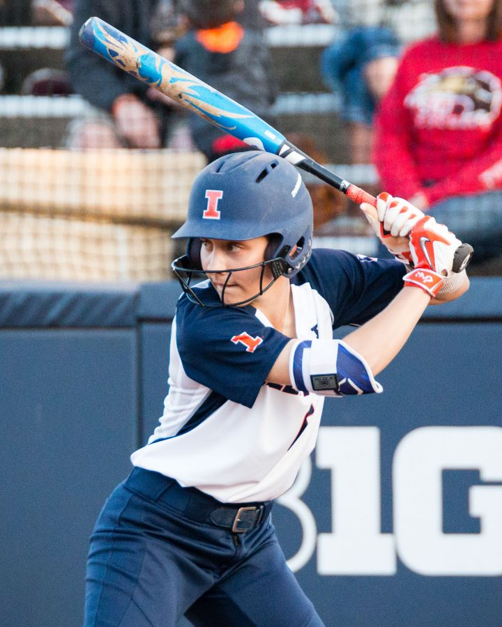 Illinois%27+Kiana+Sherlund+%286%29+waits+for+the+pitch+during+the+game+against+SIUE+at+Eichelberger+Field+on+Wednesday%2C+April+12.+The+Ilini+won+5-2.