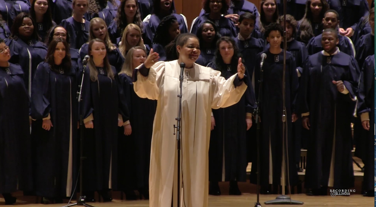 Dr. Ollie Watts Davis performs with the Black Chorus. Established in 1968, the group is meant to bring cultures together. The chorus was invited to perform at the Chicago Gospel Music Festival on June 2.