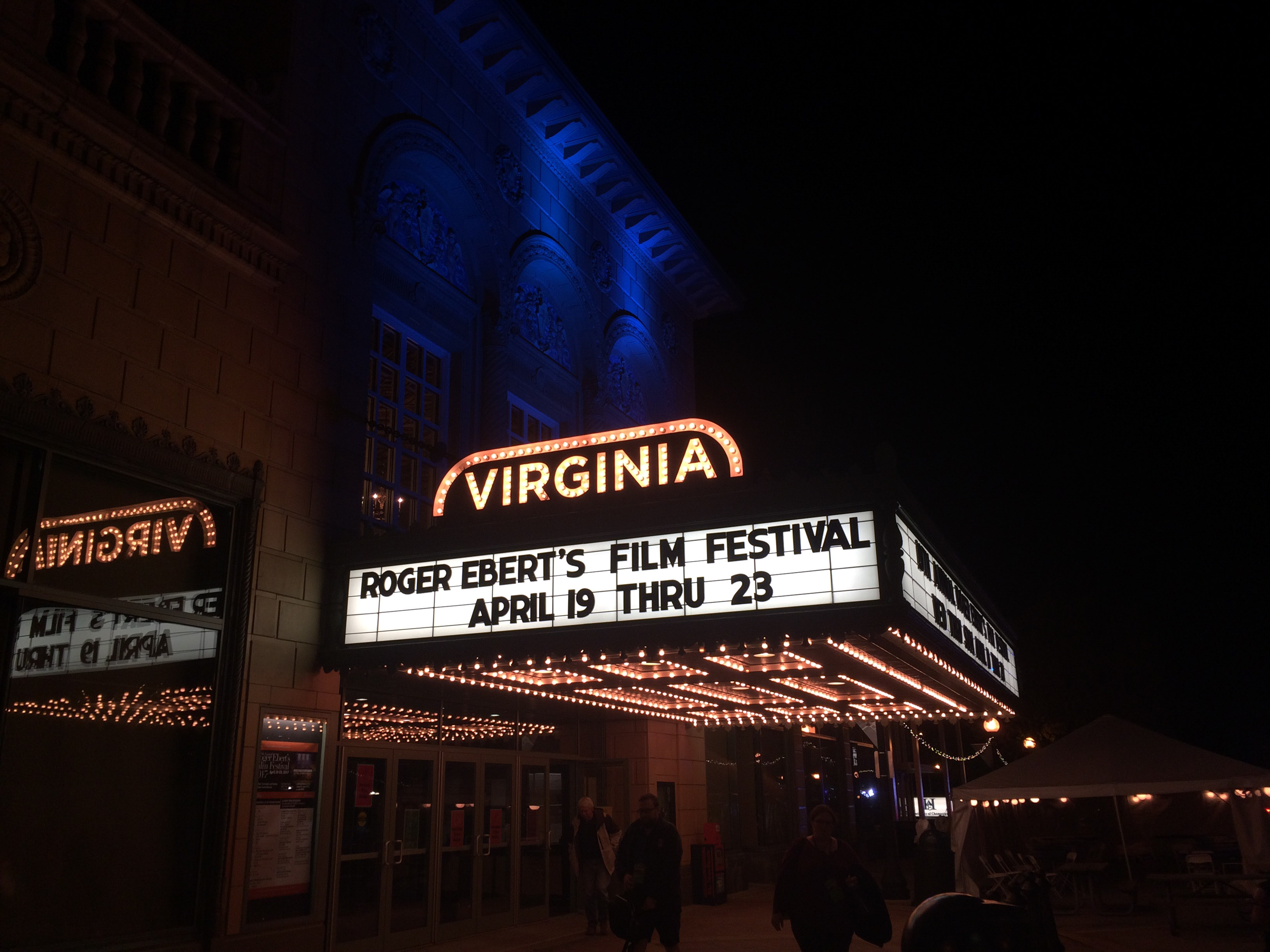 Outside the Virginia Theater on Friday, April 21. The 19th annual Roger Ebert Film Festival runs from April 19 - 23.