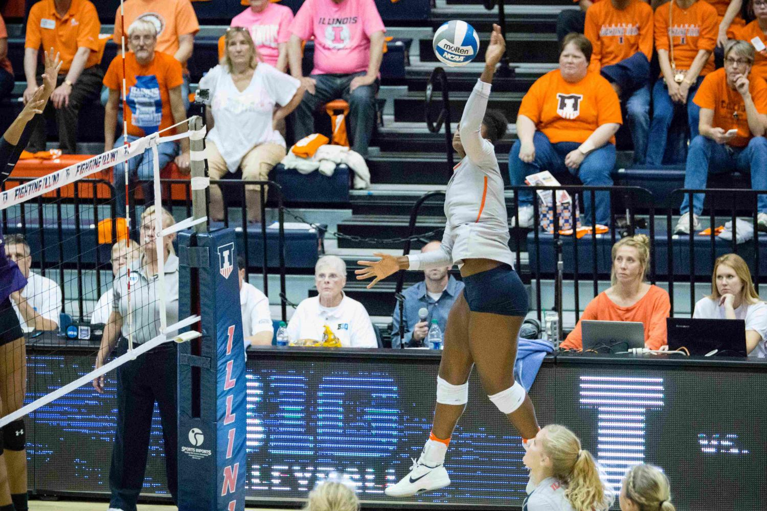 Illinois' Naya Crittenden recorded 235 kills in the 2016 regular season. Crittenden spent her first two collegiate two seasons at Oregon, where misconduct forced her to transfer.