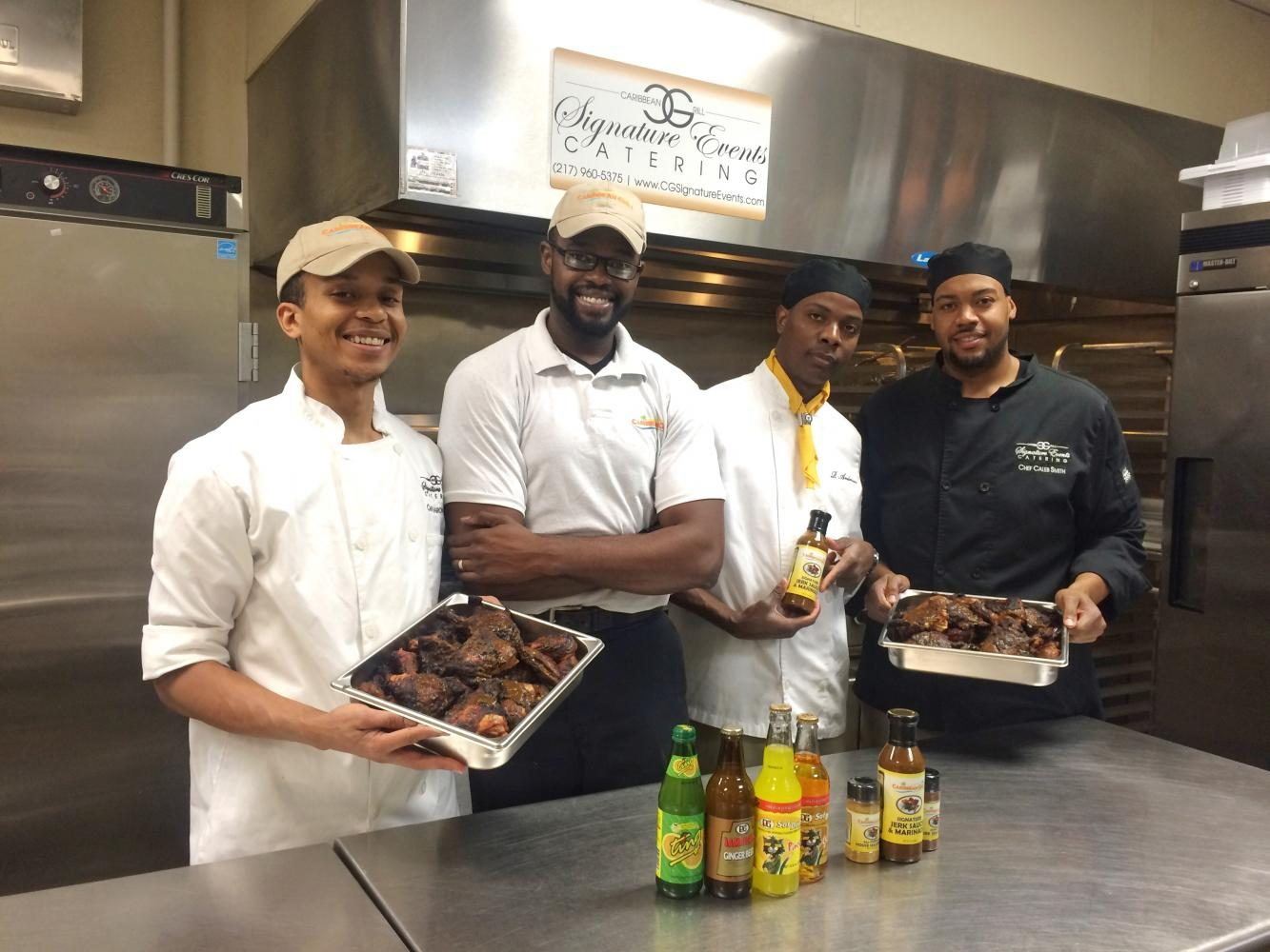 Caribbean+Grill+executive+chef+and+owner+Mike+Harden+and+his+culinary+team+prepare+for+their+first+permanent+restaurant+location%2C+which+is+set+to+open+Tuesday%2C+May+30+at+2135+S+Neil+St.%2C+Champaign.+Caribbean+Grill+is+currently+operating+out+of+a+food+truck+and+a+catering+location.++