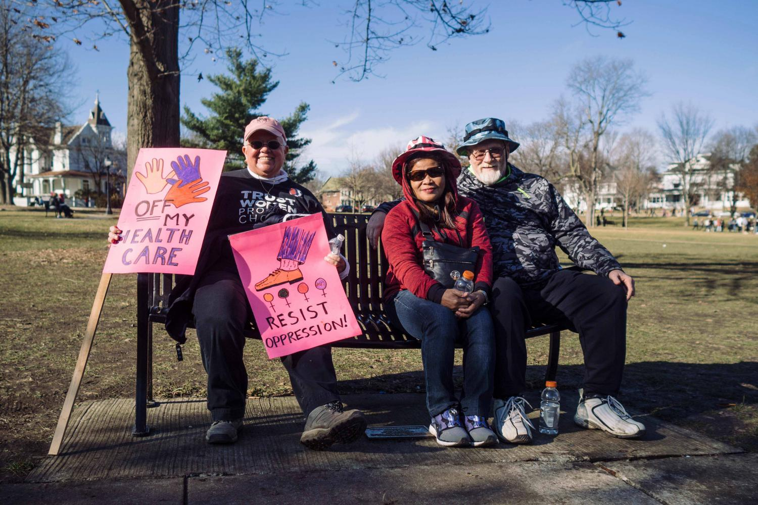 Women march in protest of the president Trump administration on Saturday, Jan 21 2017.