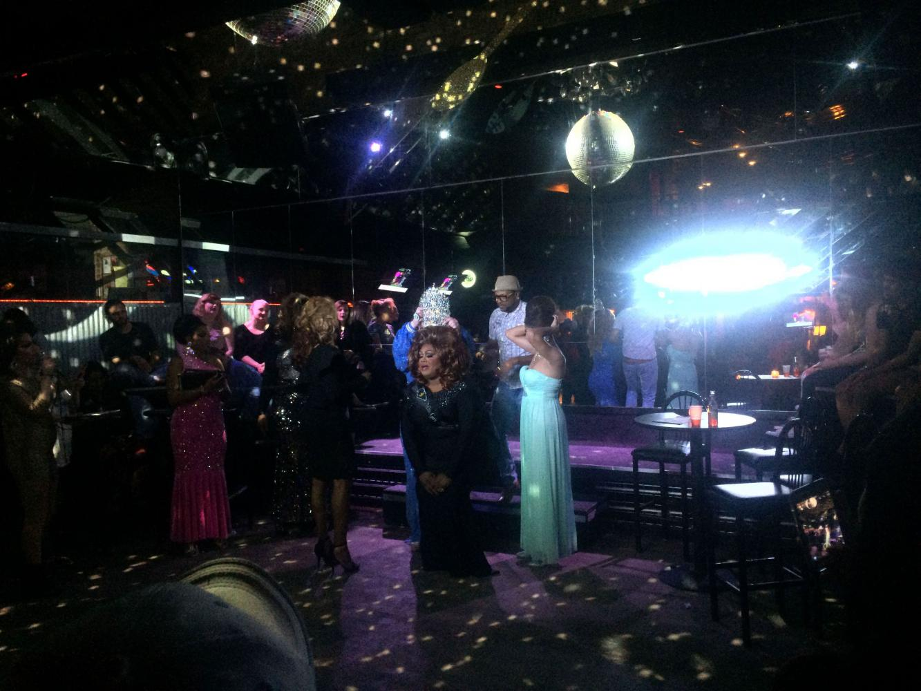 Contestants on stage at the Miss Gay Illinois State Pageant 2017. The pageant took place Sunday at Chester Street bar in Champaign.