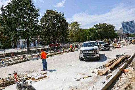 Changes from summer construction can be noticed around campus as students return