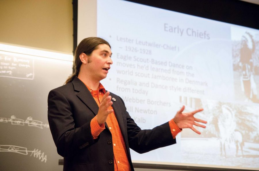 Ivan Dozier, the unofficial Chief Illiniwek from 2010 to 2015, spoke of an Illini Republicans meeting Thursday in Lincoln Hall. Dozier informed those in attendance of the general history of the Chief, how it was started, how it was carried out and why it was retired. Currently, the Native American Guardian Association and others are encouraging the authentic use of the Chief.