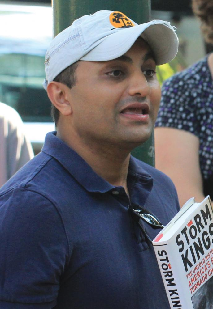 Chicago Ald. Ameya Pawar speaking at the dedication of Honorary Lee Sandlin Way in Chicago on Aug. 15, 2015.