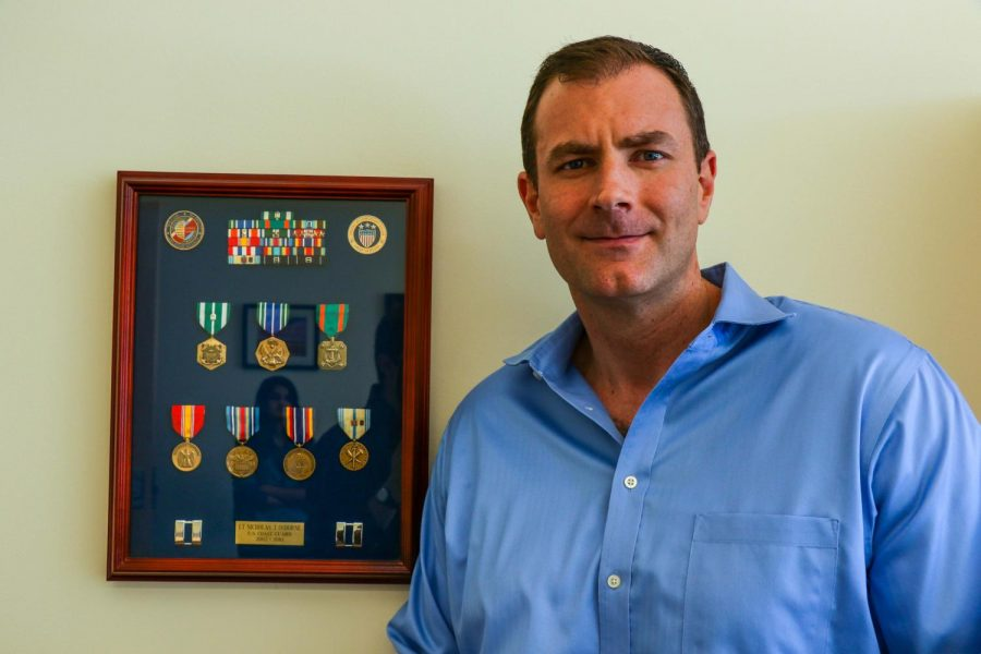Nicholas+Osborne%2C+director+of+a+wounded+veterans+center%2C+works+to+provide+various+services+to+student+veterans.