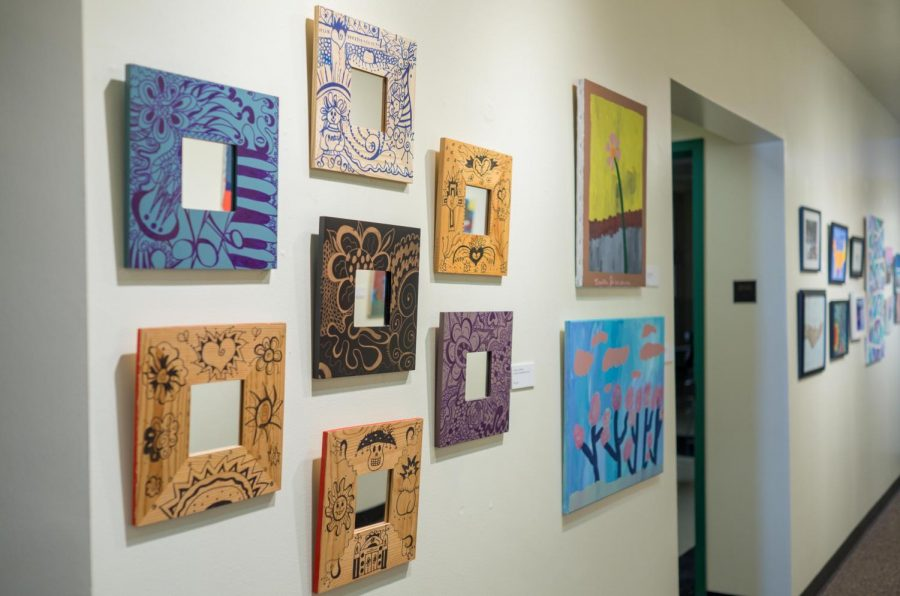 The art exhibition All in the Family was held at the Springer Cultural Center located at 301 N. Randolph St. on Oct. 16, 2017. The exhibition, features the art pieces were created by The Widholm Family. Three Generations of Artists will  be open to the public until December.