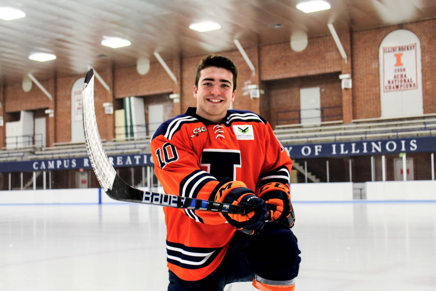 Freshman Drew Richter helped the Illini to an 8-0 start to the season with two wins over the McKendree Bearcats over the weekend. The forward scored two goals on Saturday, giving the team a 2-1 lead in the first period. The Illini won 6-1. Head coach Nick Fabbrini said Richter may be the fastest player on the team.