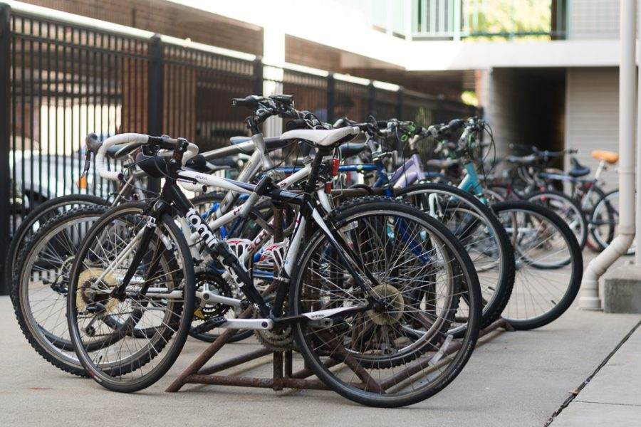 Bicycle maintenance class started this semester