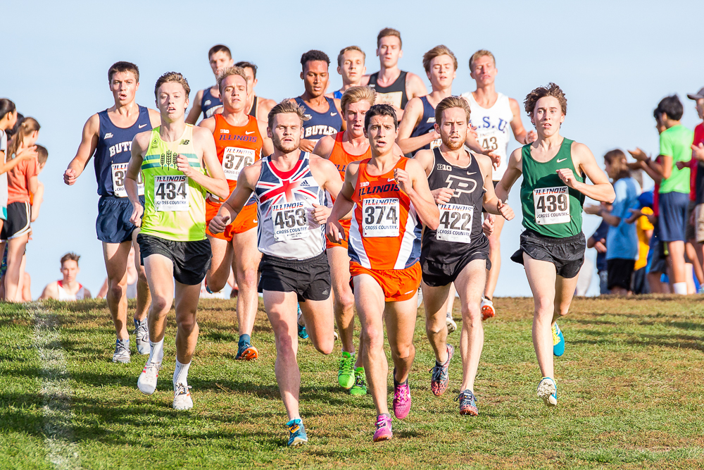 Illinois Cross Country runs in the Illini Open at the University of Illinois Arboretum on Friday, Oct. 20.