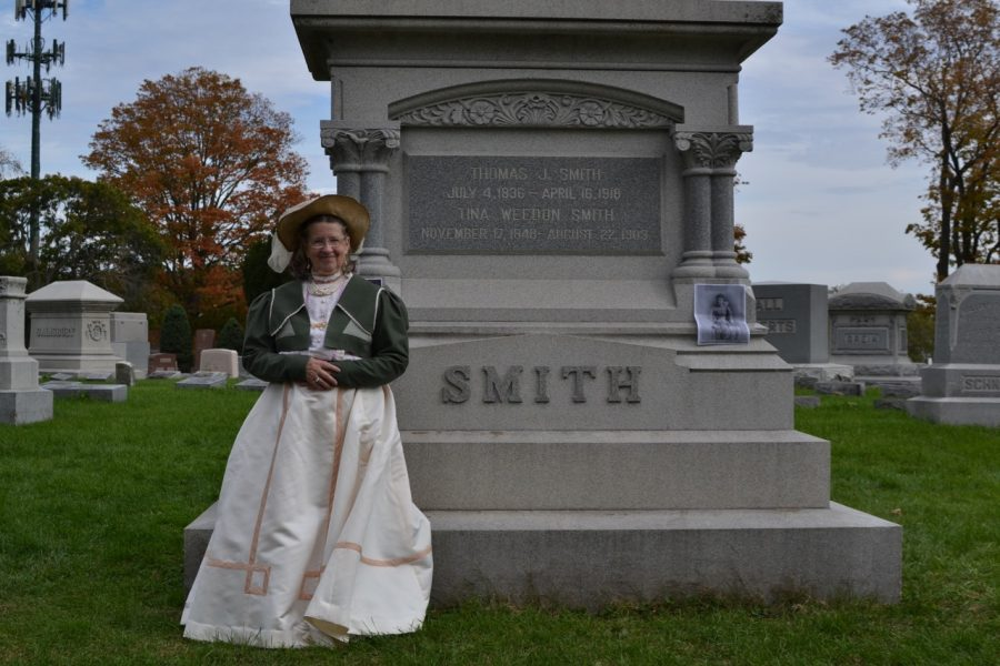 Lex Tate performs in the Mt. Hope Roselawn Cemetary Walk as Tina Weedon Smith on Saturday, Oct. 21.