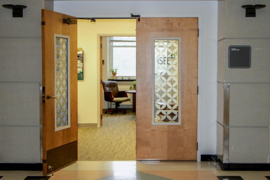 ISEE is located in the National Soyabean Research Laboratory, in Suite 350.